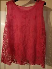 GORGEOUS PINK SLEEVELESS TOP ONE SIZE  BRAND NEW MADE IN ITALY