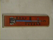 altes old Thermometer Holz Zimmerthermometer Holzthermometer vieux thermomètre
