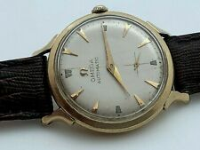 RARE 1951 OMEGA AUTOMATIC  BUMPER 342 SIGNED CROWN 14K GOLD FILLED FULLY WORKING