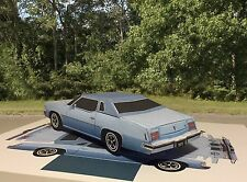 Papercraft EZU-make 1973 Pontiac Grand Prix coupe blue Paper Model Car