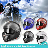 DOT Motorcycle Helmet Full Face Flip up Dual Visor Bike Racing Street Motocross