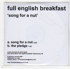 (GD364) Full English Breakfast, Song For A Nut - 2009 DJ CD