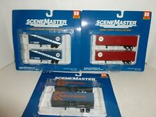 3  WALTHERS SCENE MASTER TRUCK TRAILERS - 2 PACKS