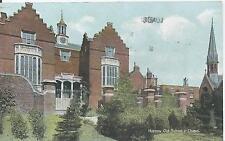 Postcard - Harrow Old School & Chapel Harrow posted 1920