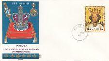 (86055) Barbuda Philart FDC Kings & Queens Richard II - 1 August 1970