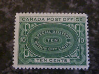 CANADA SPECIAL DELIVERY SGS1 10C BLUE GREEN FINE LIGHTLY MOUNTED MINT
