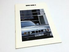1992 BMW 5-Series 520i 525i 525iX 535i Sedan E34 Brochure - Spanish