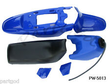 FOR YAMAHA PW50 PW 50 PLASTIC SEAT GAS TANK KIT BLUE