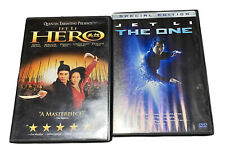 Jet Li Dvds The One, Hero James Wong Lot of 2 Movies Quentin Tarentino 2x