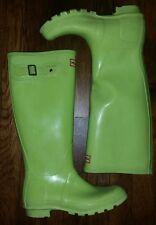 Hunter Original Tall Rain Boots W23499 Chartreuse Yellow Size US 6 EU 37