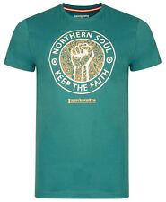 Lambretta T-shirts Tee Crew Neck Short Sleeve Northern Soul Mens Cotton UK S-4xl Teal L