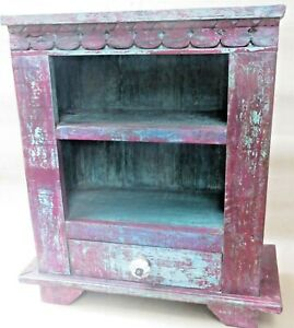 Wooden Almira RACK Open storage & chest hand Painted shabby chic Classic India