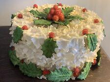 VintAge Faux Christmas Cake Photo Prop Collectible Decor