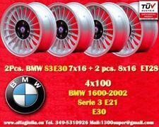 4 Cerchi BMW E30 E21 Alpine 7x16 + 8x16 ET28 4x100 Wheels Felgen Jantes TÜV