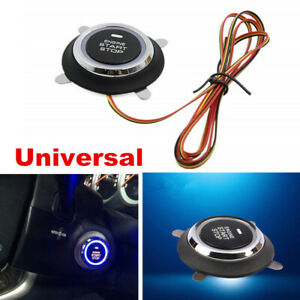 Universal 12V LED Car Engine Start Push Button Switch Ignition Starter Kit