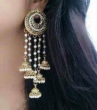 Indian Ethnic Traditional Gold Plated Jhumka Jhumki Bollywood   Earring Set