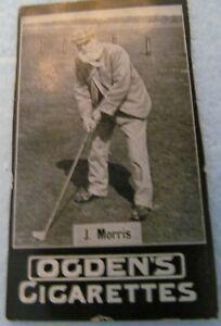 OGDEN'S CIGARETTE CARD GOLF-1901-LISTED AS J. MORRIS-PHOTO IS OF OLD TOM MORRIS