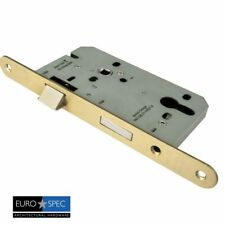 EUROSPEC 85mm DIN EURO PROFILE SASHLOCK SASH LOCK PZ=72 STAINLESS BRASS FINISH