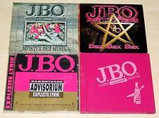 4 CD SAMMLUNG JBO - MEISTER DER MUSIK - EXPLIZITE LYRIK - SEX - LAUT | J.B.O.