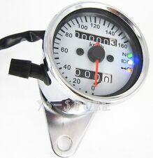 Universal Moto Dual KMH Odometer Speedometer Gauges Head turn signal LED Light