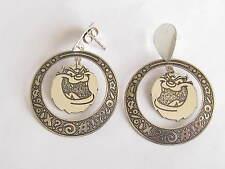 vintage sterling Warner Brothers Tasmanian Devil earrings for pierced ears