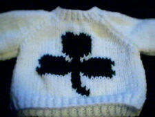 St Patrick's Shamrock Sweater Handmade for Cabbage Patch Kid Doll Made in USA