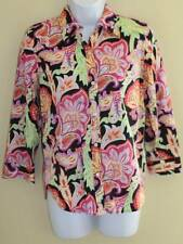 Ralph Lauren Wild Paisley Art Kaleidoscope Lightweight Cotton Shirt Blouse Sz XS