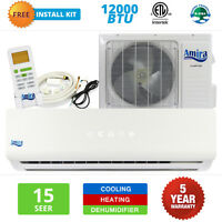 12000 BTU Mini Split Air Conditioner Ductless Heat Pump Inverter 15 SEER 1 TON