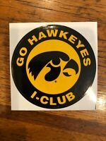 Iowa Hawkeyes - Go Hawkeyes I-Club Sticker, UI Alumni Association
