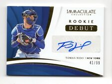 TOMAS NIDO MLB 2018 IMMACULATE COLLECTION ROOKIE DEBUT SIGNATURES #/99 (METS)