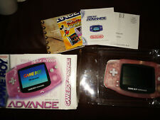 Nintendo Gameboy Advance GBA Fuchsia Pink Complete in Box CIB + BONUS PROTECTOR
