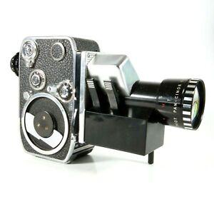 ✅ Paillard Bolex P3 Vintage 8mm Movie Camera With 8-40 Zoom Lens