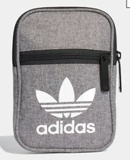 New Adidas Festival Trefoil Cross Body Bag. Mini Small Items Grey Messenger BNWT
