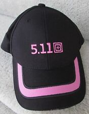 5.11 Tactical Series 2010 Black Pink Baseball Cap Hat EUC