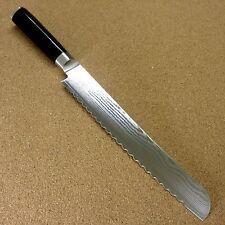 Japanese KAI SHUN Kitchen Bread Knife 225mm 8.8 inch VG-10 Damascus SEKI JAPAN