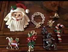 Rare! Vintage Lot Christmas Brooches Lotto Spille di Natale Gerry's (lot 3.12.1)