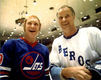 Gordie Howe with Bobby Hull WHA 8x10 Photo