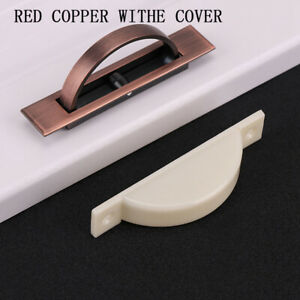 Tatami Hidden Door Handles Zinc Alloy Recessed Flush Pull Cover Floor Cabinet