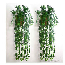 Deko 2.4m Efeu Künstliche Girlande Efeubusch Efeugirlande Efeuranke Kunstpflanze