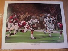 1986 Auburn Tigers Large Reverse To Victory Limited Edition Print-Lawyer Tillman
