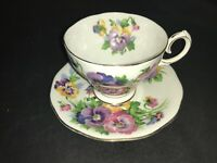 BONE CHINA CUP & SAUCER BY QUEEN ANNE SPRING MELODY ANEMONE