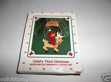 Hallmark Ornament Child's Third Christmas 1987 QX4599 - New
