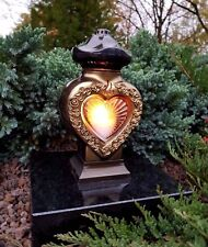 Grablaterne  Grablampe Grableuchte Granit Grablicht GRAB Kerze Grab Engel Neu