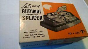 Vintage Hollywood Automat Splicer in Original Box 8mm & 16mm Film Reel Splicer