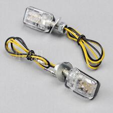 2x6LED Motorcycle Dirt Bike Mini Turn Signal Indicator Light Universal Black 12V