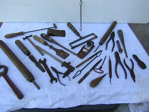 lot d outils ancien fer forge art populaire petit metier