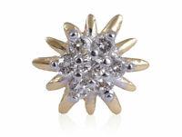 Pave 0,14 Cts Rond Brillante Couper Diamants Nez Stud En 750 Solide 18K Or jaune