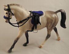 Handmade leather saddle bridle 4 1:12 scale Classic Breyer toy horse black blue