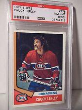 1974 Topps Chuck Lefley PSA NM-MT 8(OC) Hockey Card #178 NHL Collectible