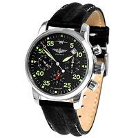 PILOT Aviator Chronograph Poljot 31681 russische mechanische Uhr Saphirglas